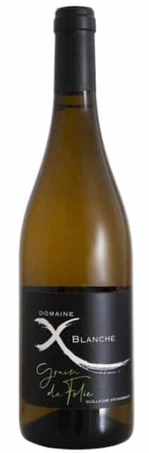 Vin bio blanc Ardèche - Côtes du Rhône - Grain de Folie - Domaine de la Croix Blanche