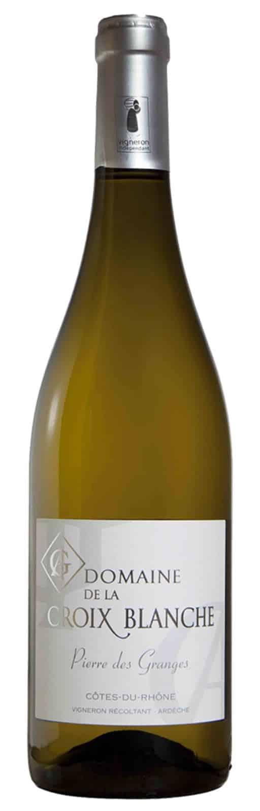 Vin Côtes du Rhône Blanc bio - Pierre des Granges - Domaine de la Croix Blanche